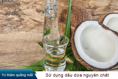 Cách trị thâm mắt bằng dầu dừa 1