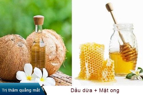 trị quầng thâm bằng dầu dừa 1