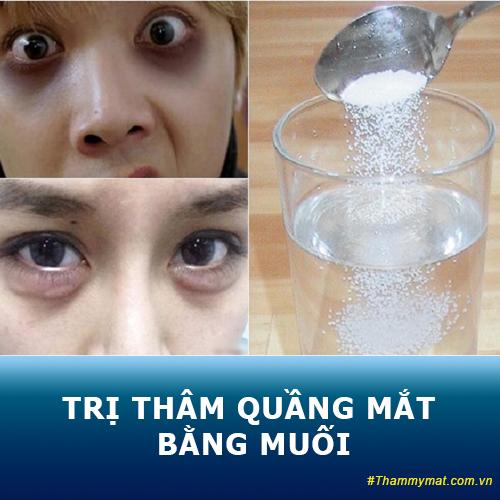 Cách trị thâm quầng mắt bằng muối hiệu quả