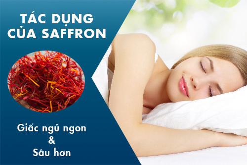nhụy hoa nghệ tây chữa mất ngủ