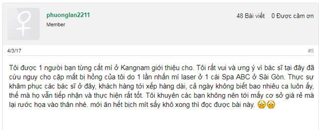 bảng giá cắt mí kangnam